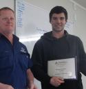 Brad Horscroft completes Apprenticeship